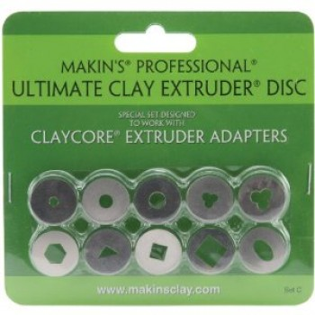 Makin's Professional Ultimate Clay Extruder Discs - Set C