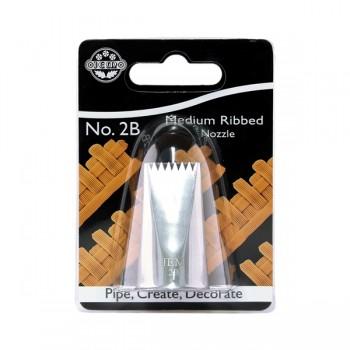 JEM Basketweave Smooth / Ribbed Nozzle Medium No. 2B
