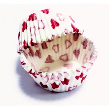 PME Petite Heart Standard Baking Cases Pk/60