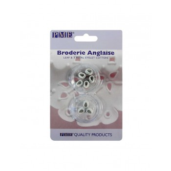 PME Broderie Anglaise Eyelet Cutters Three Petals & Leaf set/2