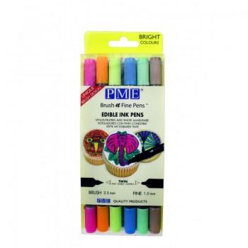 PME Brush n Fine Pen™ Wallet of 6 – Bright Colours