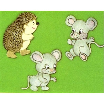 Patchwork Cutters Mice and Hedgehog