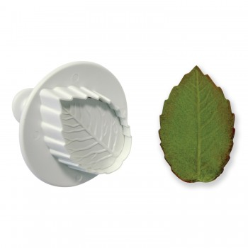 PME Veined Rose Leaf Plunger Cutter M