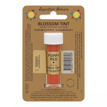 Sugarflair Blossom Tint Edible Dusting Colour - Poppy Red