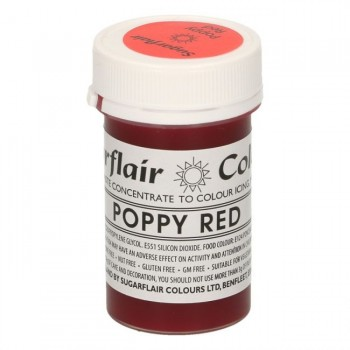 Sugarflair Spectral Poppy Red