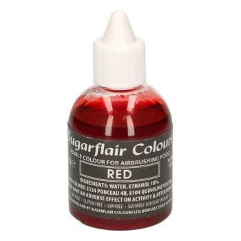 Sugarflair Airbrush Colouring -Red- 60ml