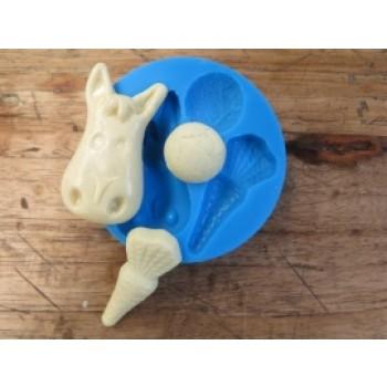 Sillicreations siliconen mal Paard, Wortel en Pepernoot