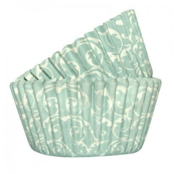 SK Baroque Cupcake Cases - Duck Egg blue