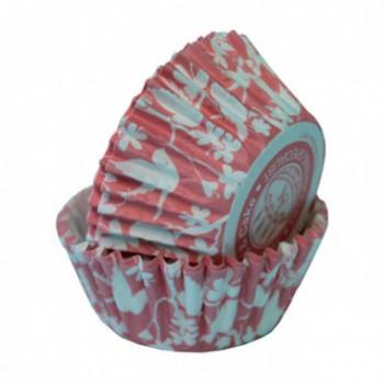 SK Coral Pink Bird Cupcake Cases