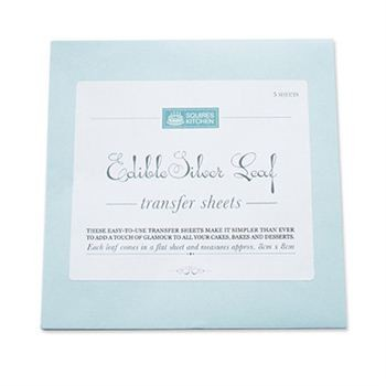SK Edible Silver Leaf Transfer Sheets Pack of 5