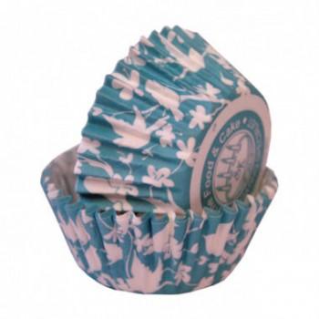 SK Teal Bird Cupcake Cases