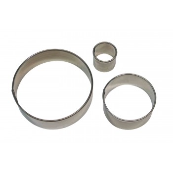 PME Stainless Steel Round Cutter Set