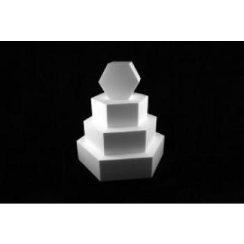 Styropor taart dummy Hexagon 15 cm - 7cm hoog