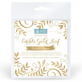 Squires Kitchen Edible Gold Leaf Transfer Sheets