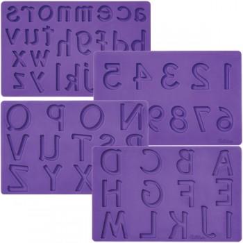 Wilton Letters /Numbers Fondant & Gumpaste Mold Set/4