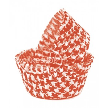 Lindy Smith Baking Cups Hounds Tooth Rust