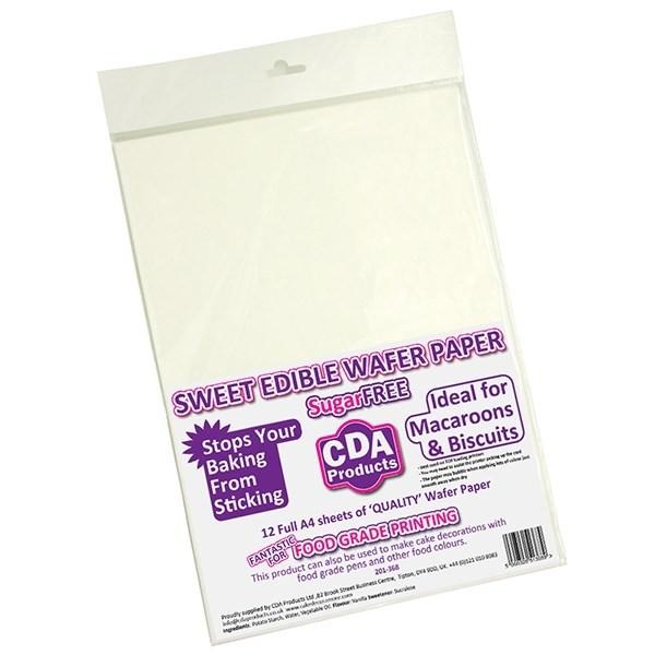CDA Edible Wafer Paper - pk/12
