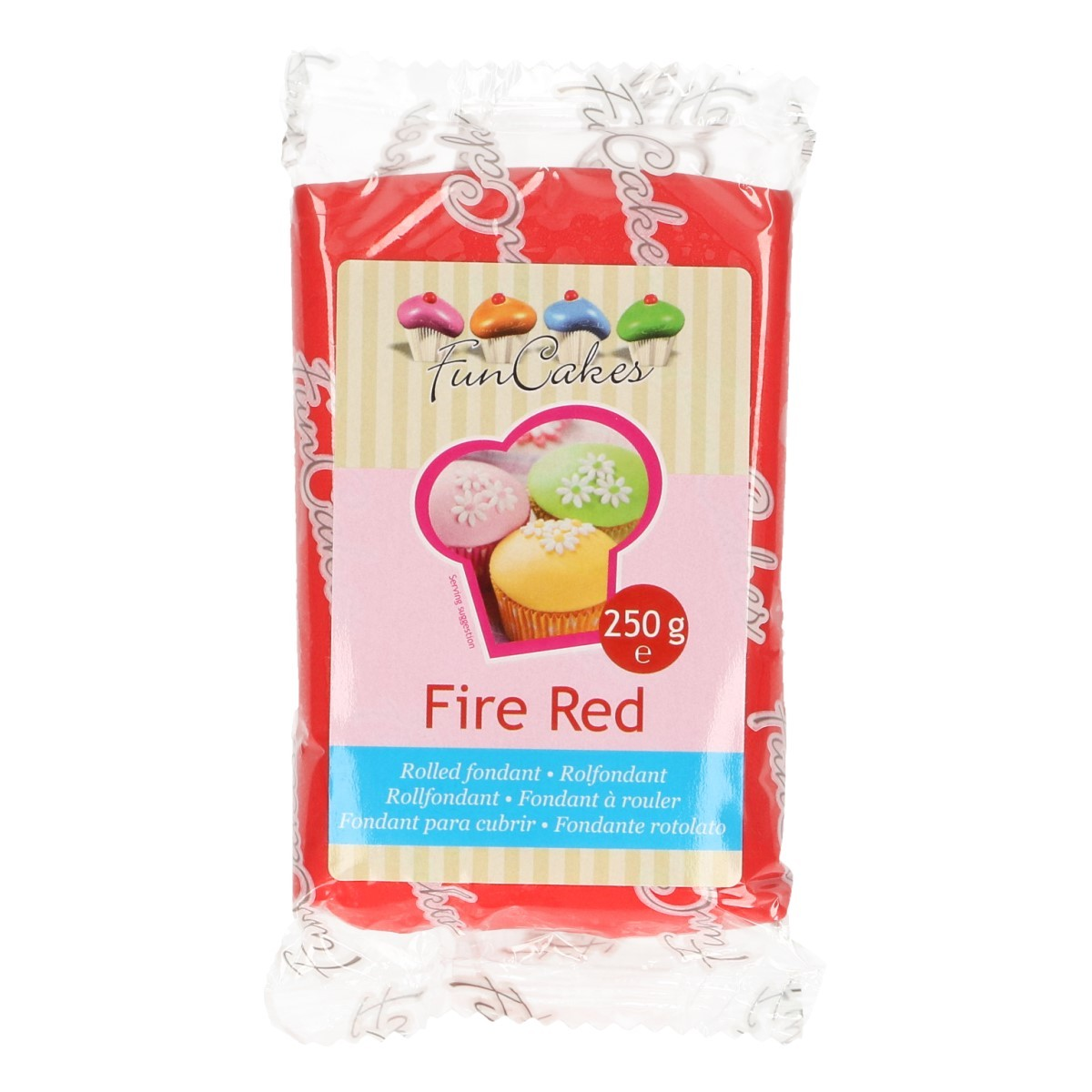 FunCakes Rolfondant -Fire Red- -250g-