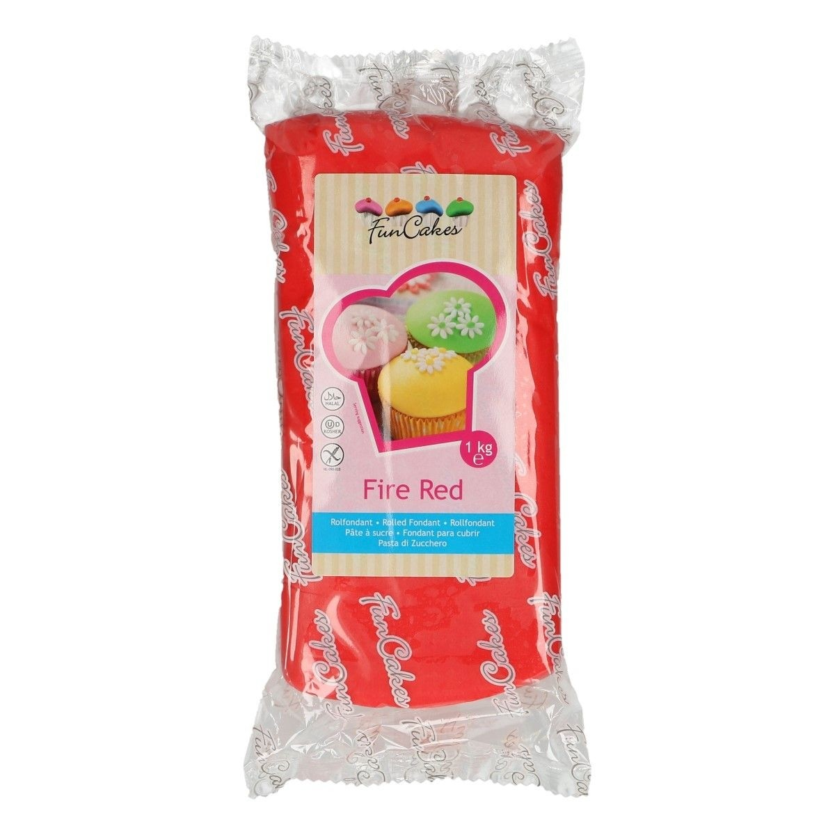 FunCakes Rolfondant -Fire Red- -1kg-