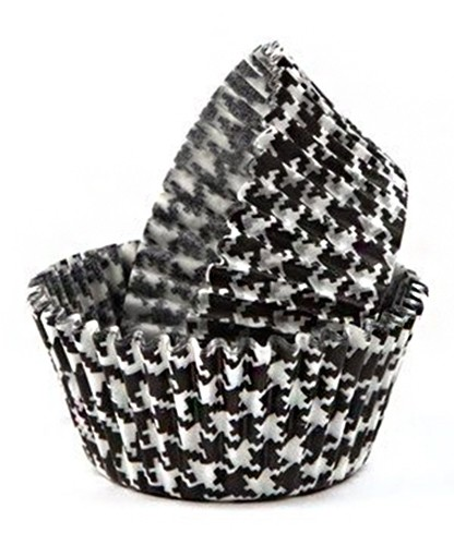Lindy Smith Baking Cups Hounds Tooth Black