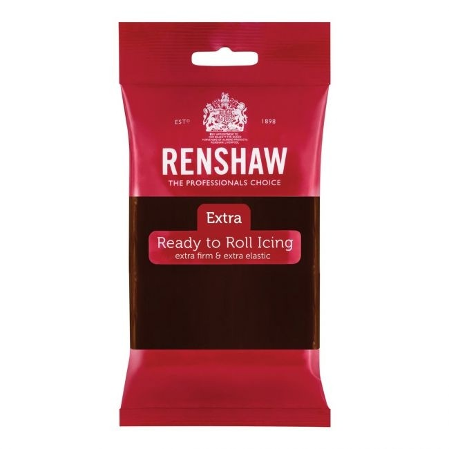 Renshaw Rolfondant Extra 250g -Chocolate Flavoured