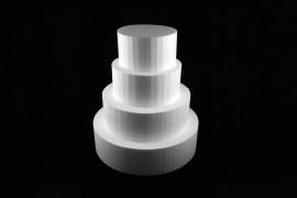 Styropor taart dummy Rond 12 cm - 12cm hoog