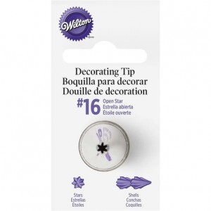 Wilton Decorating Tip #16 Open Star