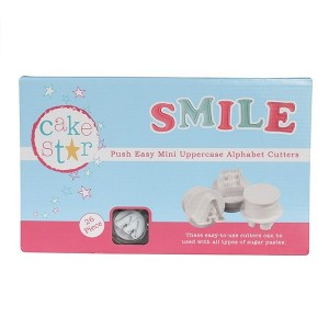 Cake Star Push Easy Mini Cutters - Uppercase Alphabet Set 26 Pc