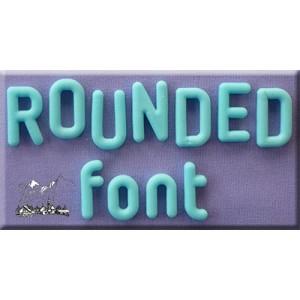 Alphabet Moulds - Rounded Font Full Set