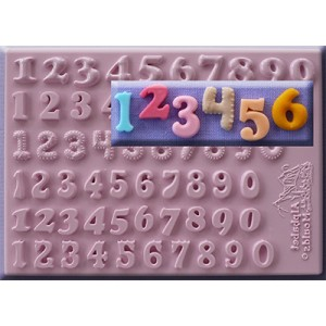 Alphabet Moulds Set of 6 Numbers 12mm