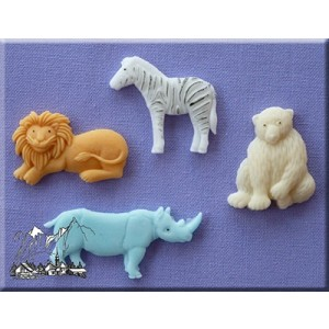 Alphabet Moulds - Wild Animals
