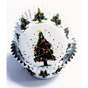 PME Decorative Foil Baking Cases - Christmas Tree