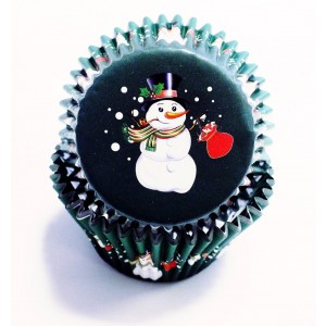 PME Decorative Foil Baking Cases - Fun Snowman