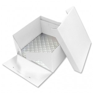 PME 22.5cm Square Cake Card and Cake Box