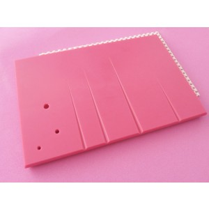 Blooms grooved rolling board Pink - M