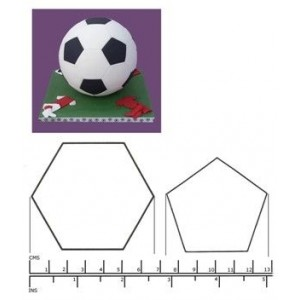 Blooms Football cutters for 15cm spherical cake