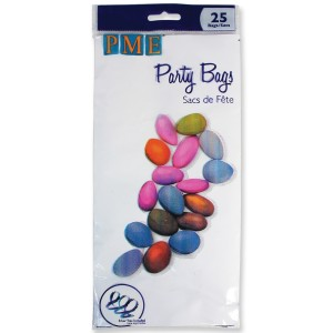 PME Party Bags with silver ties pk/25