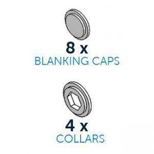 CakeFrame Blanking Caps & Collars Pack/12