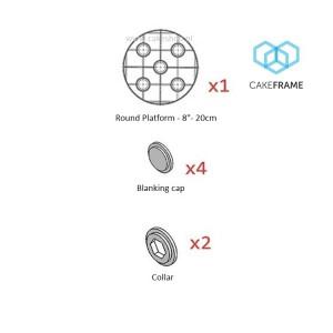 """CakeFrame 8""""round Platform pack by Dawn Butler"""