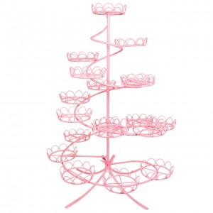 PME Spiral Cupcake Stand pink