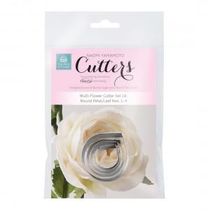 SK Multi Flower Cutter Set 1A: round Petal/Leaf Nos. 1-4