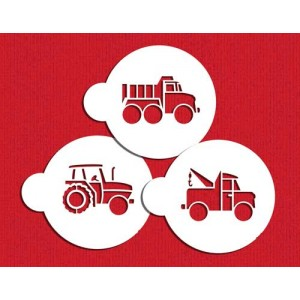 Designer Stencils Trucks Cookie Stencils Set