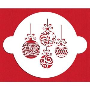 Designer Stencils Christmas Balls Cake Stencil