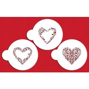 Designer Stencils Valentine Heart Designs
