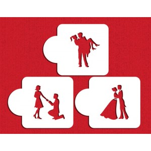 Designer Stencils Stages of Love Silhouette