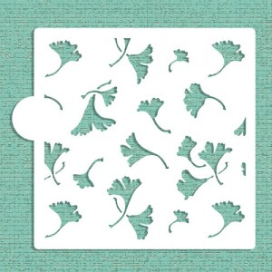Designer Stencils Ginko leaves Allover Cookie and Craft Stencil
