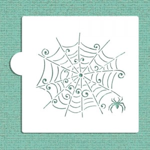 Designer Stencils Whimsical Spiderweb Cookie and Craft Stencil