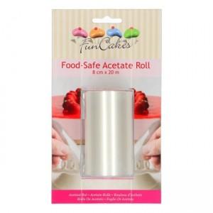 FunCakes Food Safe Acetate Roll -8cm x 20m