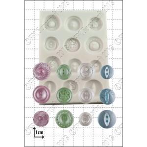 FPC Plain Buttons Silicone Mould