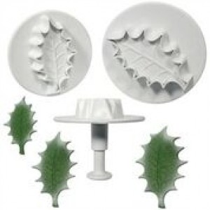 PME Veined Holly Leaf Plunger Cutter XL  set
